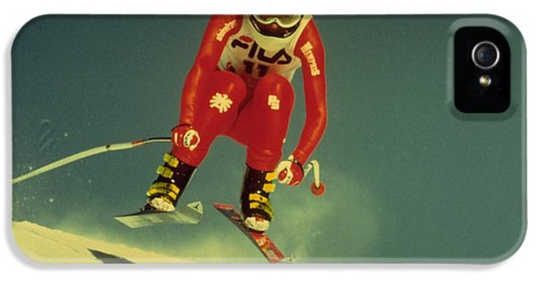 IPhone 5 / 5s Case featuring the photograph Skiing In Crans Montana by Travel Pics