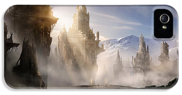 Concept iPhone 5 Cases - Skyrim Fantasy Ruins iPhone 5 Case by Alex Ruiz