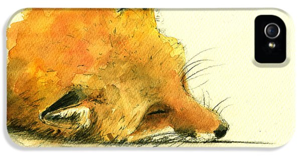 Sleeping Fox IPhone 5 / 5s Case by Juan  Bosco
