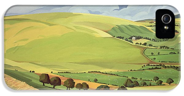 Meadow iPhone 5 Cases - Small Green Valley iPhone 5 Case by Anna Teasdale