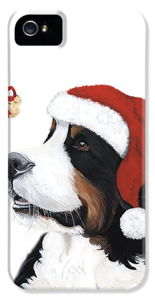 Sofa iPhone 5 Cases - Smile its Christmas iPhone 5 Case by Liane Weyers
