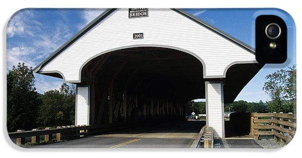 Road iPhone 5 Cases - Smith Covered Bridge - Plymouth New Hampshire USA iPhone 5 Case by Erin Paul Donovan