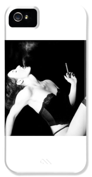 Smoke iPhone 5 Cases - Smoke and Seduction - Self Portrait iPhone 5 Case by Jaeda DeWalt