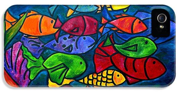 Fish iPhone 5 Cases - Snorkeling Off Norman Island iPhone 5 Case by Patti Schermerhorn