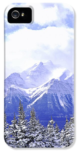 Mountain iPhone 5 Cases - Snowy mountain iPhone 5 Case by Elena Elisseeva