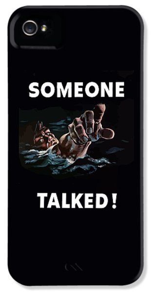 Americana iPhone 5 Cases - Someone Talked -- WW2 Propaganda iPhone 5 Case by War Is Hell Store