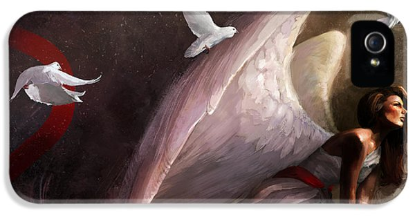 Angelic iPhone 5 Cases - Sometimes They Weep iPhone 5 Case by Steve Goad