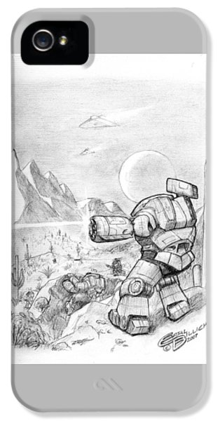 Mech iPhone 5 Cases - Sonoran Assault iPhone 5 Case by Earl Billick