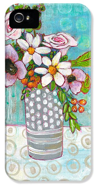 Sophia Daisy Flowers IPhone 5 / 5s Case by Blenda Studio