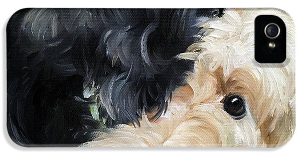 Scottie iPhone 5 Cases - Soulmates iPhone 5 Case by Mary Sparrow