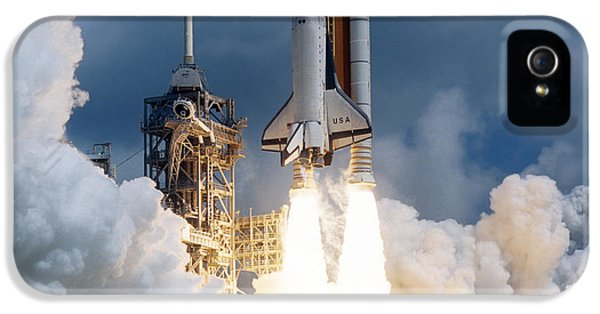 Rockets iPhone 5 Cases - Space Shuttle Launching iPhone 5 Case by Stocktrek Images