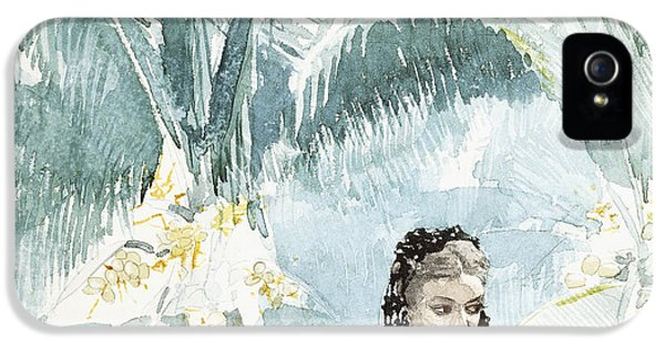 Homer iPhone 5 Cases - Spanish Girl With A Fan iPhone 5 Case by Winslow Homer