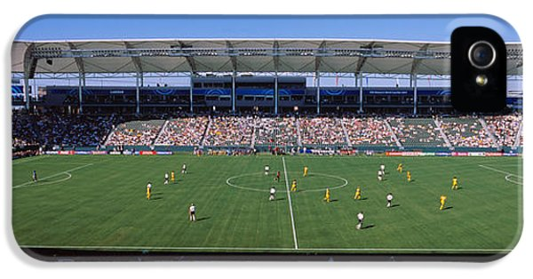 Cooperation iPhone 5 Cases - Spectators Watching A Soccer Match iPhone 5 Case by Panoramic Images