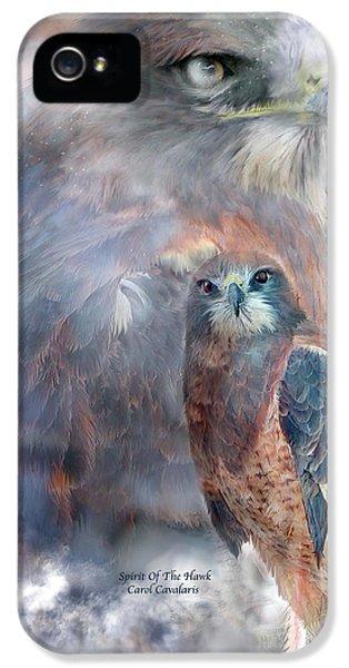 Prey iPhone 5 Cases - Spirit Of The Hawk iPhone 5 Case by Carol Cavalaris