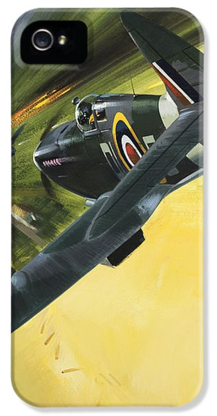 Spitfire And Doodle Bug IPhone 5 / 5s Case by Wilf Hardy