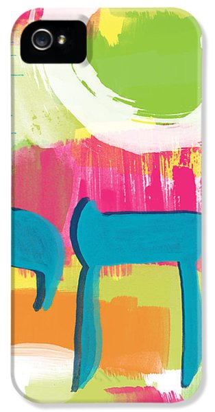 Judaica iPhone 5 Cases - Spring Chai iPhone 5 Case by Linda Woods