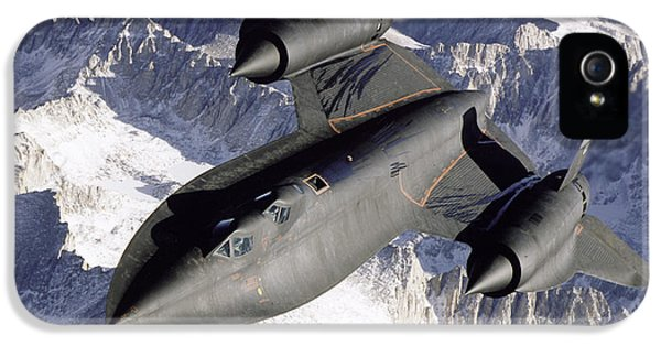 Sr-71b Blackbird In Flight IPhone 5 / 5s Case by Stocktrek Images