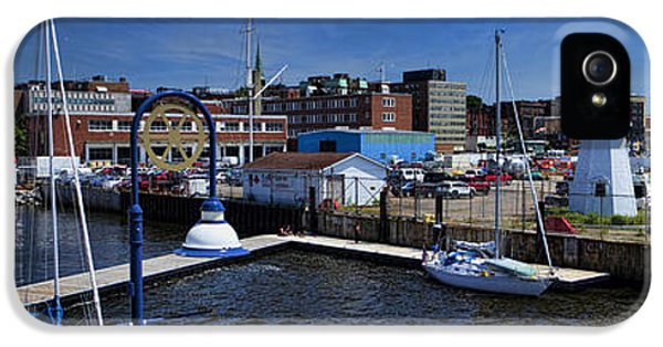 St. John New Brunswick Harbour With Cruise Ship IPhone 5 / 5s Case by David Smith
