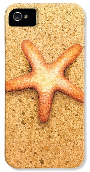 Star iPhone 5 Cases - Star Fish iPhone 5 Case by Katherine Young-Beck