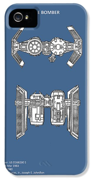 Spaceships iPhone 5 Cases - Star Wars - Spaceship Patent iPhone 5 Case by Mark Rogan