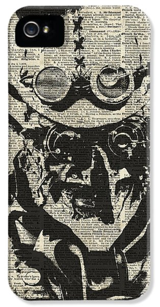 Modern Steampunk iPhone 5 Cases - Steampunk guy iPhone 5 Case by Jacob Kuch