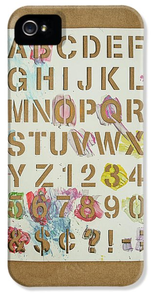 Stencil Alphabet Fun IPhone 5 / 5s Case by Scott Norris
