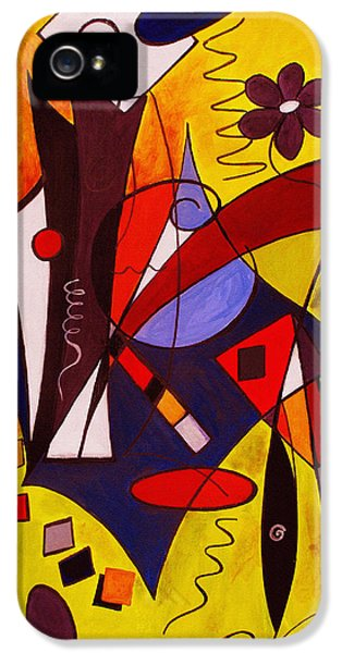Multicolored iPhone 5 Cases - Step Lively Now iPhone 5 Case by Ruth Palmer