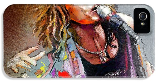Steven Tyler 02  Aerosmith IPhone 5 / 5s Case by Miki De Goodaboom
