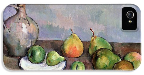 Still Life With Pitcher And Fruit IPhone 5 / 5s Case by Paul Cezanne