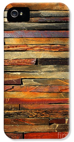 Abstract Canvas iPhone 5 Cases - Stone Blades iPhone 5 Case by Carlos Caetano