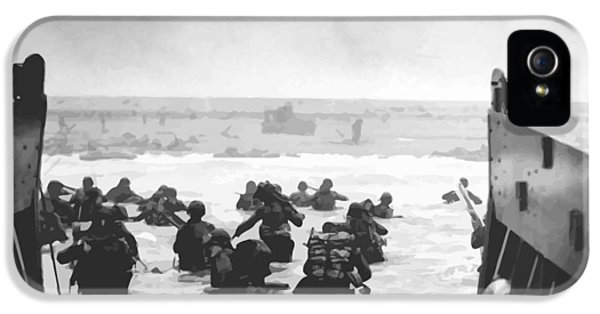 Storming The Beach On D-day  IPhone 5 / 5s Case by War Is Hell Store
