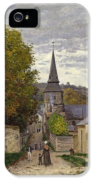 Oil House iPhone 5 Cases - Street in Sainte Adresse iPhone 5 Case by Claude Monet