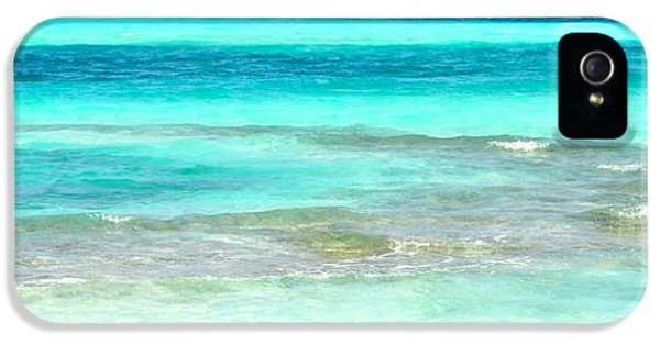 Indian Ocean iPhone 5 Cases - Study in Blue iPhone 5 Case by Corinne Rhode