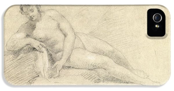 Study Of A Female Nude  IPhone 5 / 5s Case by William Hogarth