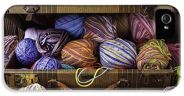 Bundle iPhone 5 Cases - Suitcase Full Of Yarn iPhone 5 Case by Garry Gay