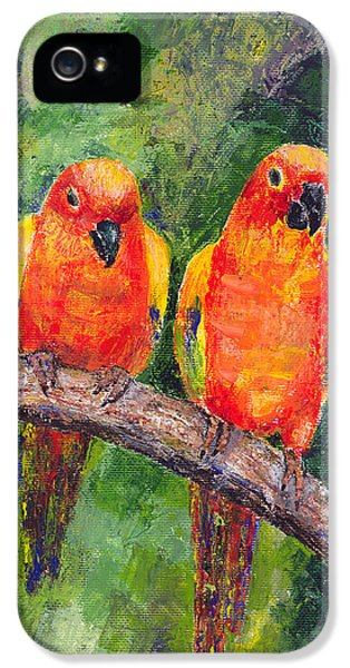 Sun Parakeets IPhone 5 / 5s Case by Arline Wagner