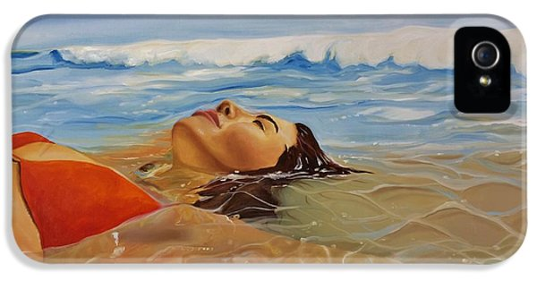 Women iPhone 5 Cases - Sunbather iPhone 5 Case by Crimson Shults