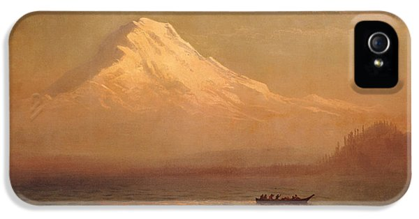 Sunrise On Mount Tacoma  IPhone 5 / 5s Case by Albert Bierstadt