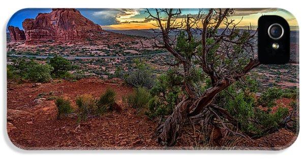 American Western iPhone 5 Cases - Sunset In The Garden of Eden iPhone 5 Case by Rick Berk