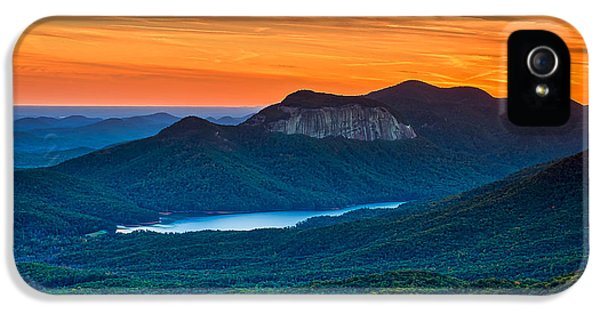 Sunset Over Table Rock From Caesars Head State Park South Carolina IPhone 5 / 5s Case by T Lowry Wilson