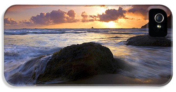 Oregon Coast iPhone 5 Cases - Swept Away iPhone 5 Case by Mike  Dawson