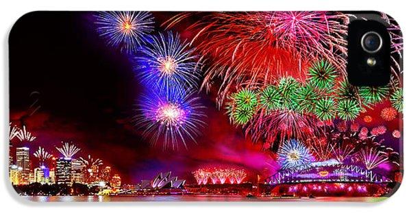 Firework iPhone 5 Cases - Sydney Celebrates iPhone 5 Case by Az Jackson