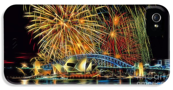 City Scenes iPhone 5 Cases - Sydney Opera House iPhone 5 Case by Marvin Blaine