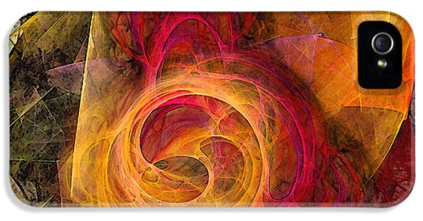 Contemplative iPhone 5 Cases - Symbiosis Abstract Art iPhone 5 Case by Karin Kuhlmann