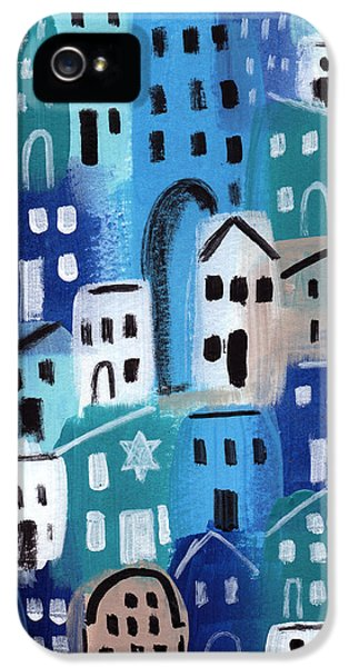 Hanukkah iPhone 5 Cases - Synagogue- City Stories iPhone 5 Case by Linda Woods