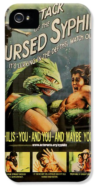 Diseased iPhone 5 Cases - Syphilis Poster iPhone 5 Case by Andrew Fare