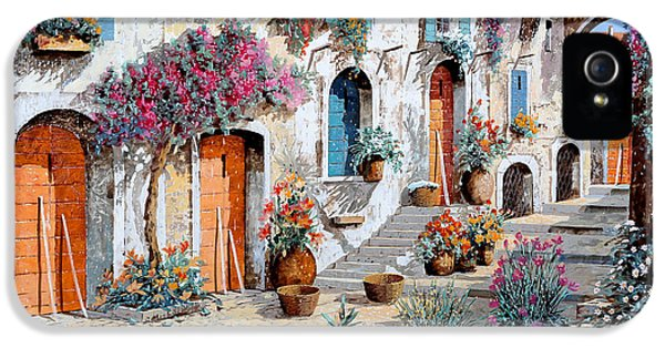 Street Scene iPhone 5 Cases - Tanti Fiori Per Strada iPhone 5 Case by Guido Borelli