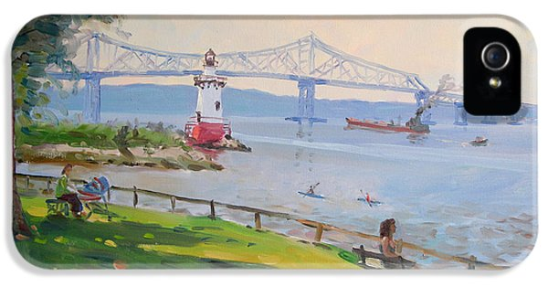 Tappan Zee Bridge And Light House IPhone 5 / 5s Case by Ylli Haruni
