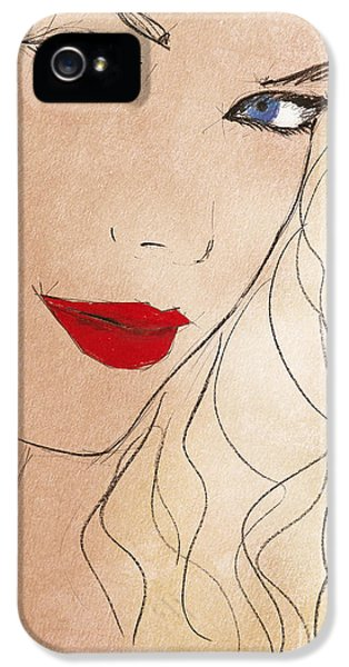 Taylor Red Lips IPhone 5 / 5s Case by Pablo Franchi