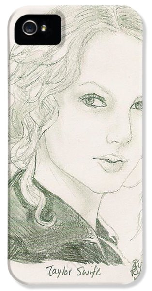 Taylor Swift IPhone 5 / 5s Case by Renee Kilburn